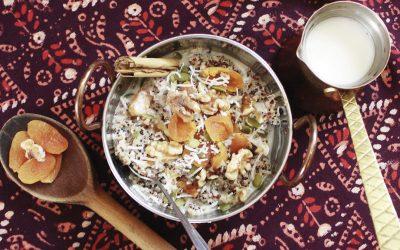 Apricot and Walnut Quinoa Porridge