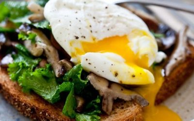 Mushrooms, Egg, & Wilted Kale Toast