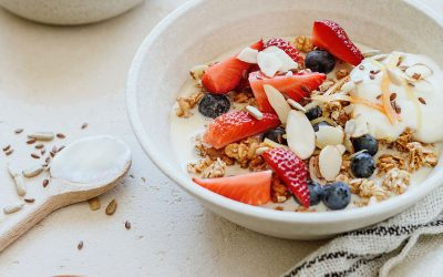 5 Grain Porridge with Nut Butter and Berries