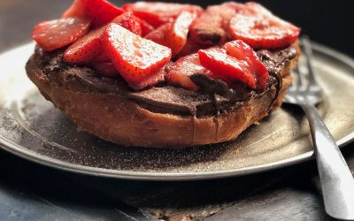 Nut Butter, Berries and Cocoa Toast Topper