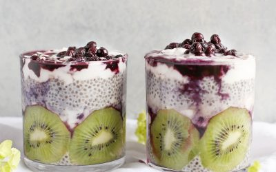 Blueberry Chai Pudding