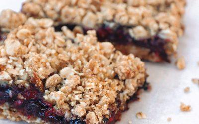 Vegan Berry Crumble Bites